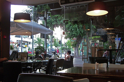 9-Amelia Cafe, Dizengoff Street at Bar Kochva. This was my neighborhood hangout, at least once a day.
