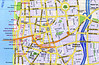 PART ONE, Tel Aviv–Dizengoff area. My primary routes are in orange.