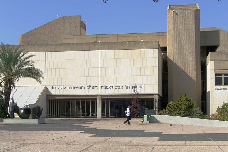 53-Tel Aviv Museum of Art (main building, 1971). I arrived at 1 PM and stayed until closing (4 PM). Great museum; much to see!