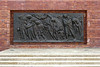"""21-Warsaw Memorial, """"The Last March,"""" depicts the mass deportation of the Jews to the death camps."""