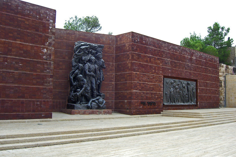 19-Warsaw Ghetto Square–Wall of Remembrance. The wall of red bricks symbolizes the ghetto walls.