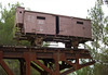 """18-Boxcar for transporting 100 people to death camps. An original German cattle car given to Yad Vashem by Polish authorities. The German reads """"German Railways, Munich."""""""