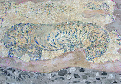Mosaic on Byzantine concourse, western portico.