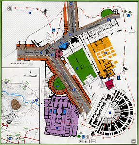 Plan of Roman and Byzantine Bet She'an.