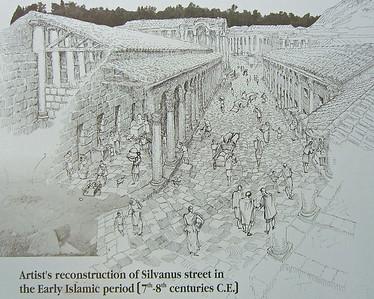 Artist's reconstruction of Silvanus St, 7th-8th centuries.