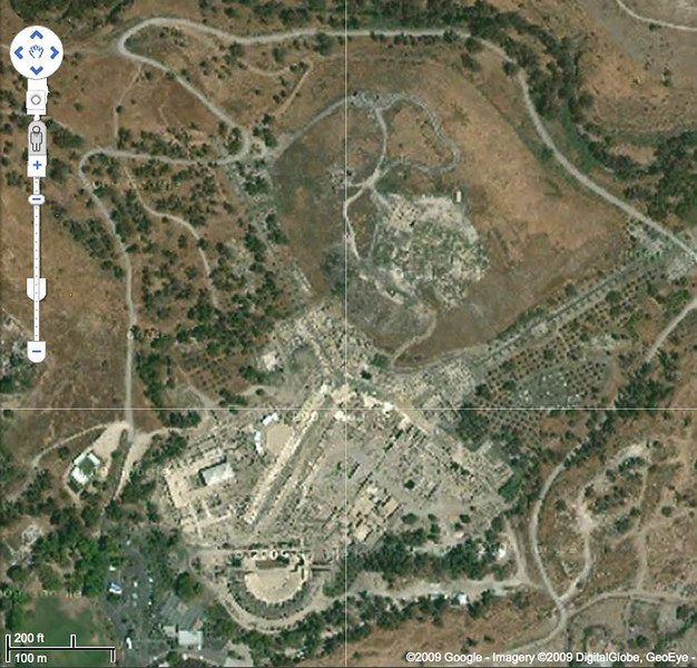 Satellite view of Bet She'an.