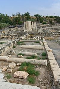 Silvanus Street, Roman colonnade, looking east.