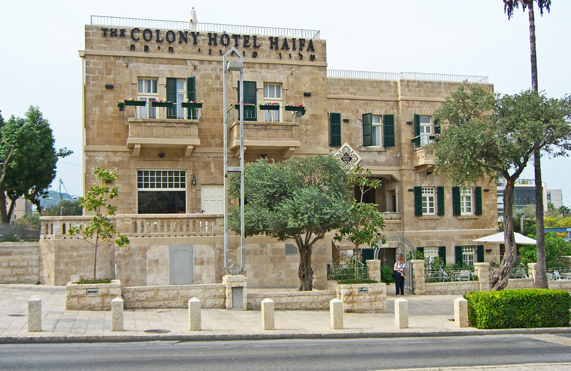 2-The Colony Hotel, 28 Sderot Ben Gurion. In its early years, it was the Appinger pension. Once the pension became too small, the family decided to rebuild and expand it into a hotel. A Swiss architect who resided on Mount Carmel, designed the reconstruction plan, and the building reopened as a 50-room hotel in the late 1920s. More recently, the building was used as an old age home until 2005.