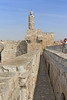 21-On the ramparts, looking back (to the north) at the Tower of David