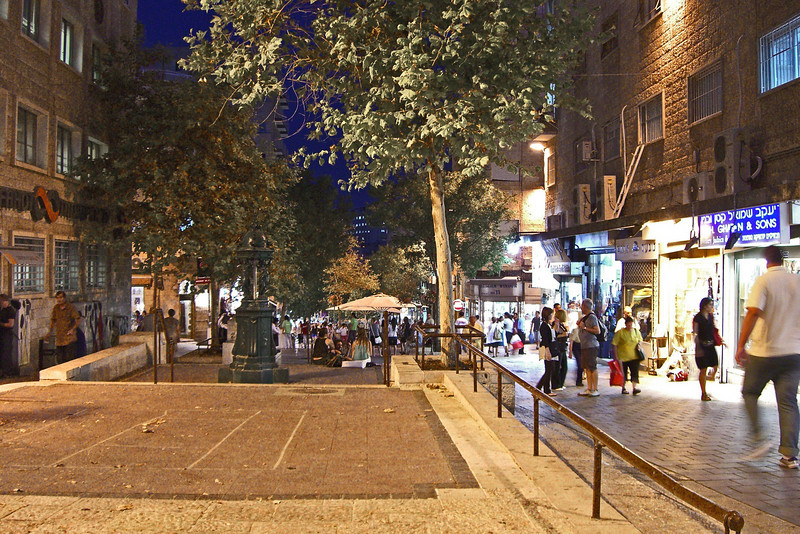 8-Going down (eastward) on Ben Yehuda Mall, designed by San Francisco landscape architect Lawrence Halprin