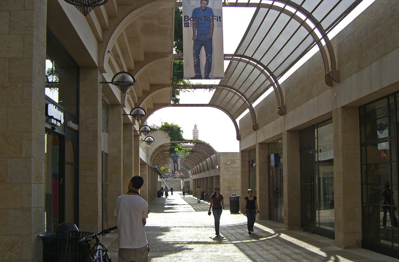 14-Mamilla Mall—designed by Moshe Safdie—and Tower of David