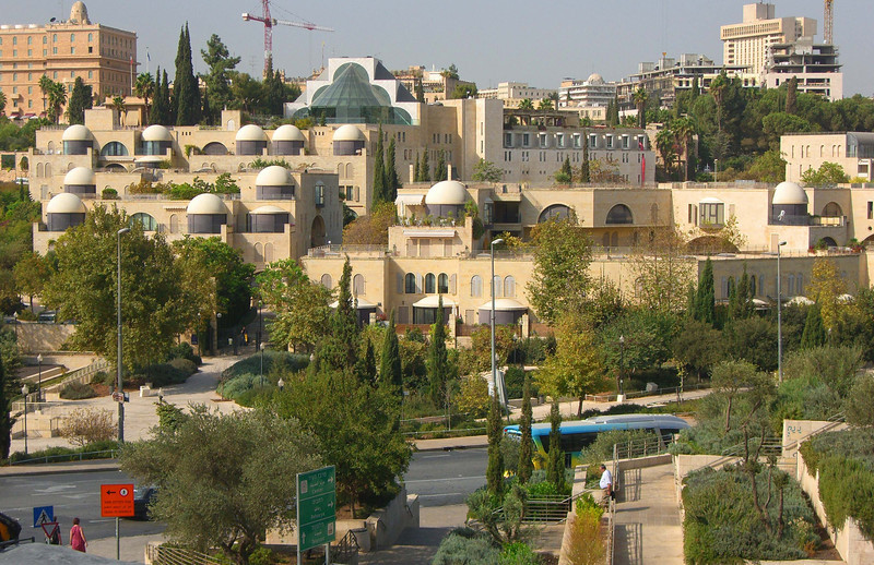 24-King David Hotel (top left) and Hebrew Union College, seen from the Old City ramparts