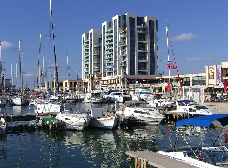 Marina apartments and shops. Great kosher meat restaurant here.