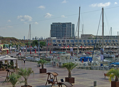 Herzliya is between Netanya and Tel Aviv. These four photos explore the marina starting on the south and swinging aroung to the west and north.