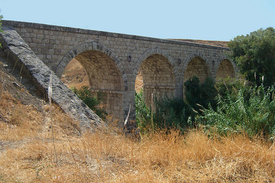 3-A 100-year-old Haifa-Damascus railroad bridge along the Jordan River, below Belvoir.
