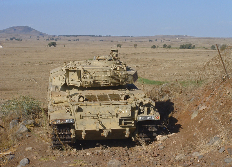 Tel Saki Centurion tank, Golan