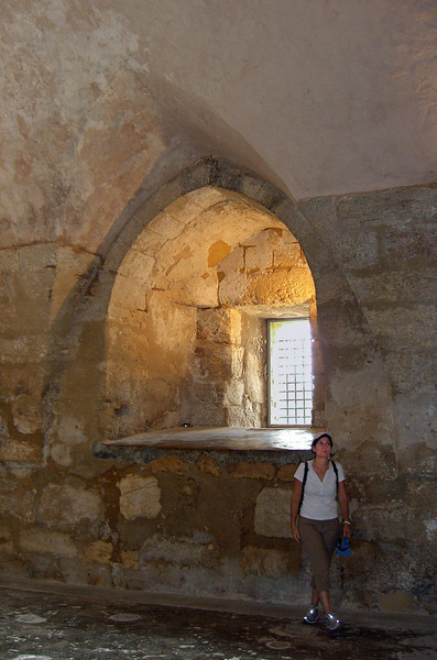 20-Nurit in the Citadel. The 12th century Crusader/Ottoman Citadel was built on an earlier Byzantine foundation, on the hilltop.