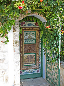 17-Safed, door to an artist's home and studio