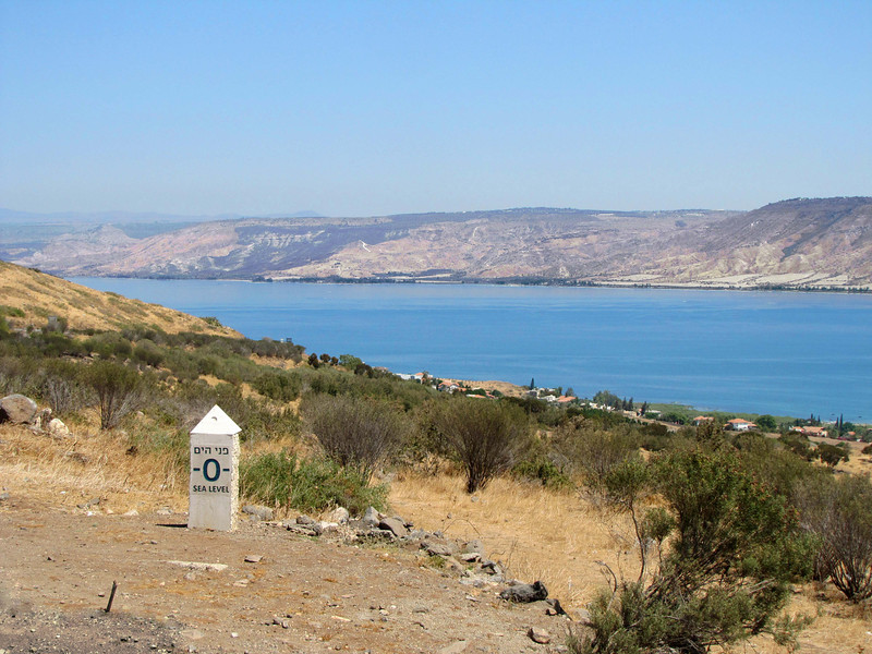 01-Lake Kinneret, from Alumot Junction, Sea Level