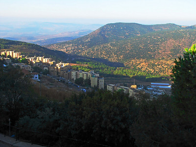 12-South end Merom Range from Safed. (Hebrew: צְפַת, Tz'fat; Arabic: صفد, Ṣafad). Also known as Zefat (Ashkenazi: Tzfas). Biblical: Ṣ'fath.