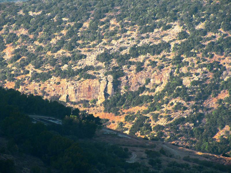 14-Safed: cliffs west and opposite hotel window