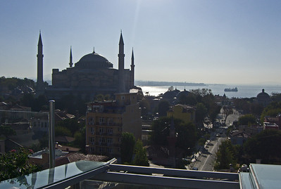35-Hagia Sophia (Ayasofya in Turkish) from our hotel terrace, early morning.
