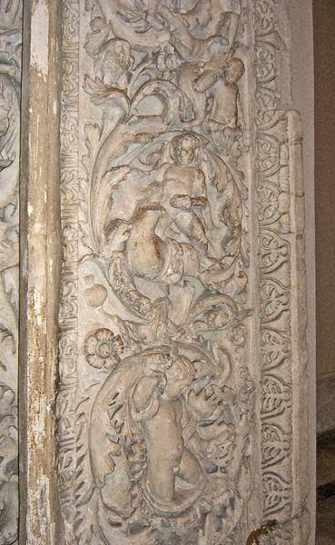 8-Pillar, with acanthus foliage and animals,2nd century CE