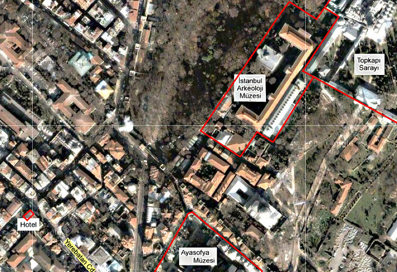 0-Location map, Amador Hotel and Archaeology Museum.