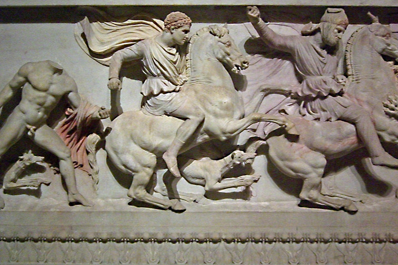 18-Detail of Alexander Sarcophagus. The figure on the right is on the left in image 16.