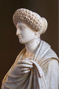 12-Young Roman woman from Aptera, Crete. Hair fashion dates from the Flavian era, 69-96 CE