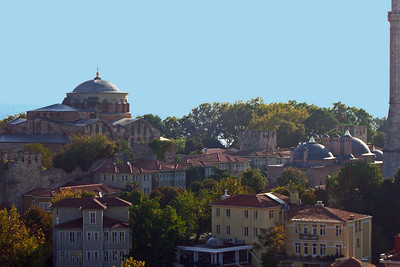36-Topkapi Palace from our hotel terrace, early morning.