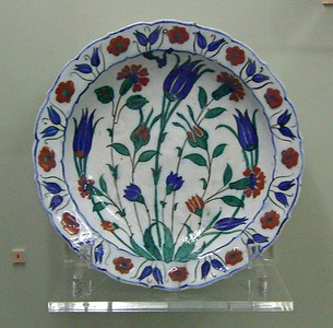 27-Plate, Iznik. Tulips were favorites.