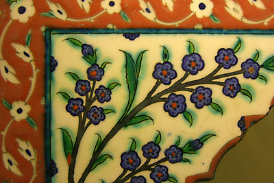 26-This is the left of a matching pair of polychrome spandrels, 16th century.