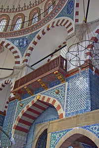 20-Rustem Pasha Mosque, 1561 to 1563, designed by Ottoman imperial architect Mimar Sinan for Grand Vizier Rüstem Pasha.