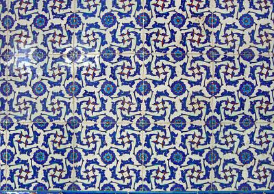 25-Rustem Pasha Mosque, İznik tiles.