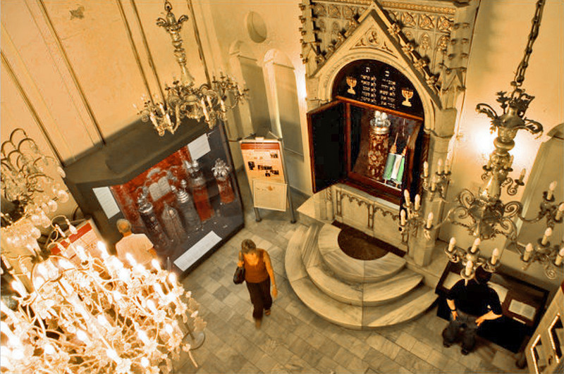 The displays in the small Jewish museum stress the welcome and religious freedom Jews found under both the Ottoman Empire and the Turkish Republic. Photo credit: Nichole Sobecki for The New York Times