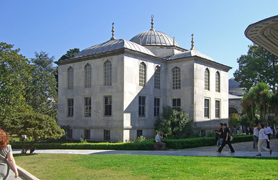 6-Topkapi Palace, Library of Ahmet III, 1719, a marble building in the third courtyard.