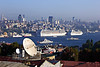 31. Cruise ships docked along the north shore of the Golden Horn.