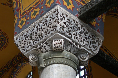 92. Hagia Sophia (Aya Sofya), one of many of the simpler column capitals.