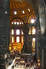 90. Hagia Sophia (Aya Sofya) interior.  The interior height (floor to inside top of dome) is 55.6m (182 ft).