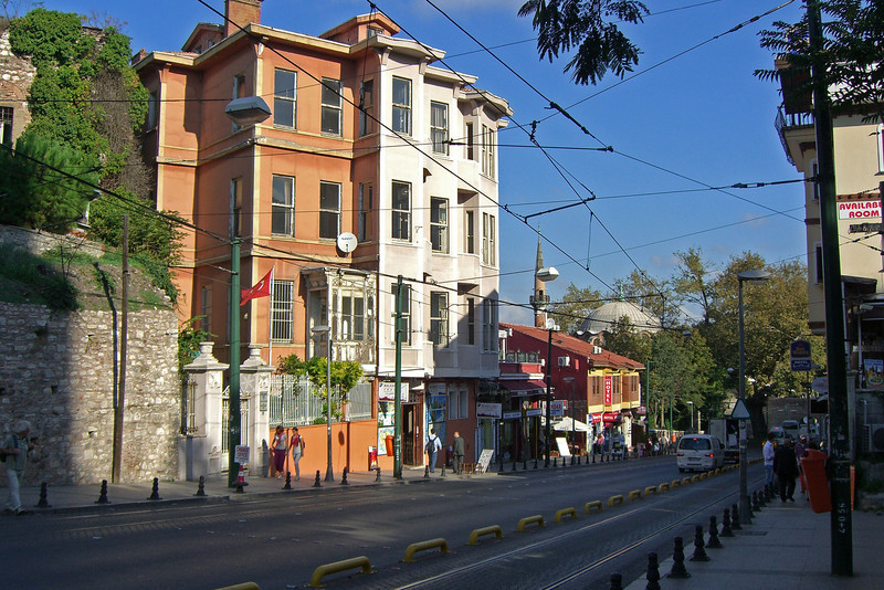 58. Divan Yolu Street (tram line) is the main thoroughfare in the old city. It was laid out by Roman engineers and runs west from the Hippodrome. This is the eastern terminus.