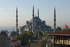 38. The Blue Mosque seen from the Adamar Hotel roof terrace.
