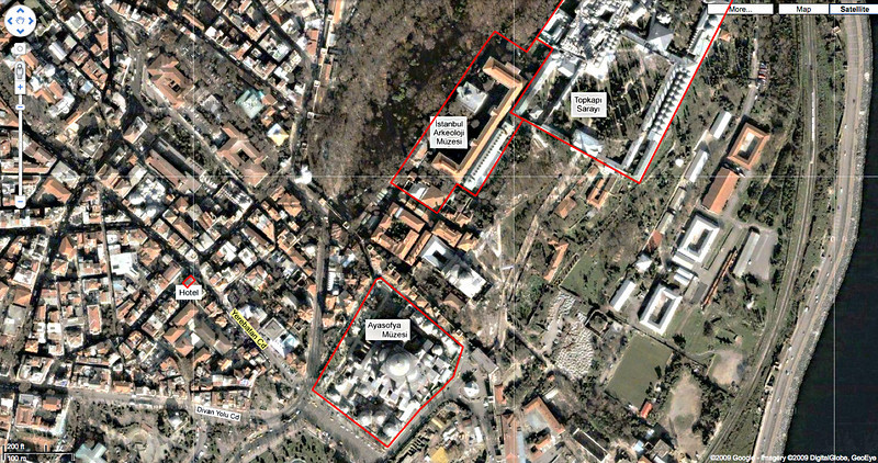 28. Hotel location, area map.