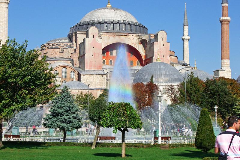 148. Hagia Sophia (Aya Sofya) and Sultanahmet Park Fountain.