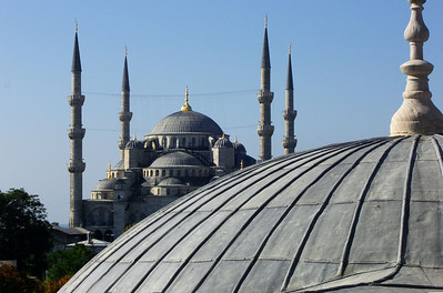 77. The Blue Mosque from Hagia Sophia (Aya Sofya).