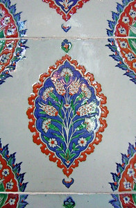 112. Iznik tile, Mausoleum of Selim II.