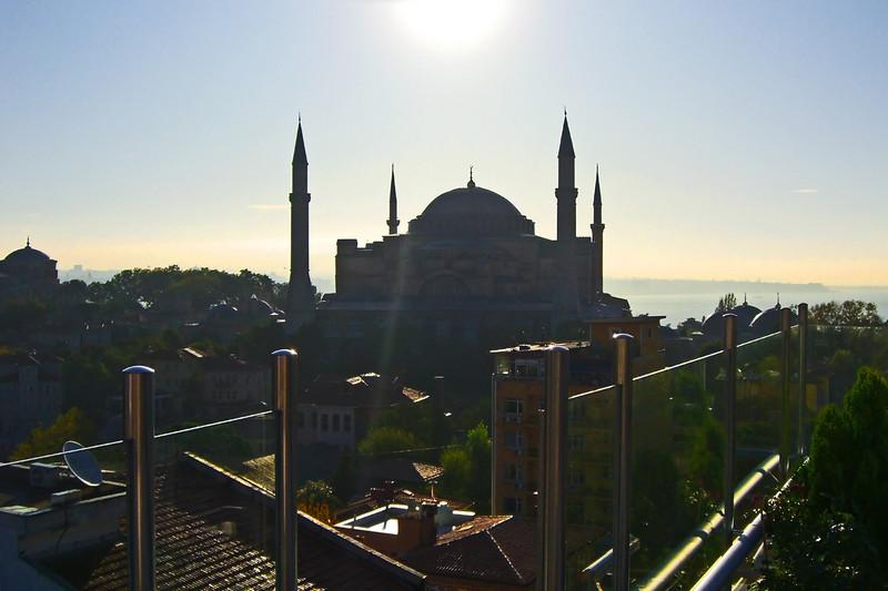 33. Hagia Sophia (Aya Sofya) seen from the Adamar Hotel roof terrace.