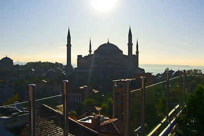 33. Hagia Sophia (Aya Sofya) seen from the Adamar Hotel roof terrace.