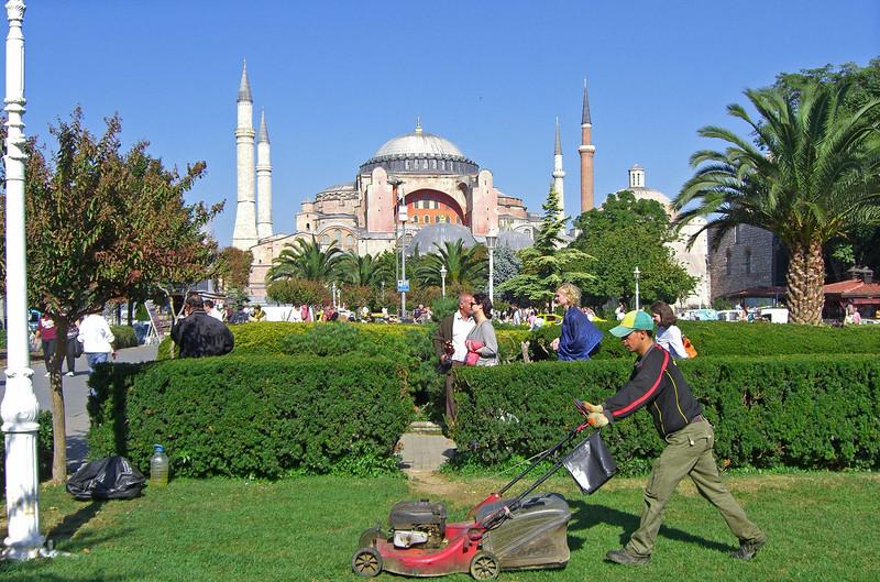 144. Hagia Sophia (Aya Sofya) from Sultanahmet Square.