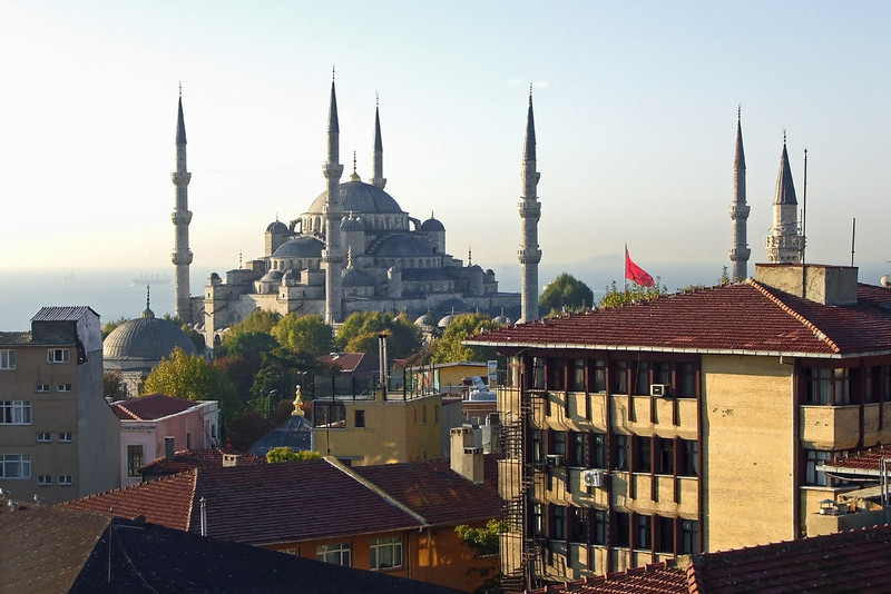 39. The Blue Mosque from our hotel roof terrace.